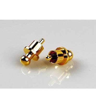 RCA Termination Caps - gold plated - 6 pieces